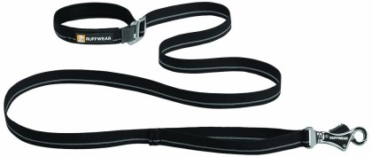 Ruffwear's Flat Out Leash has an Accessory Loop near the collar attachment, which also gives the option for more control of the dog when needed.