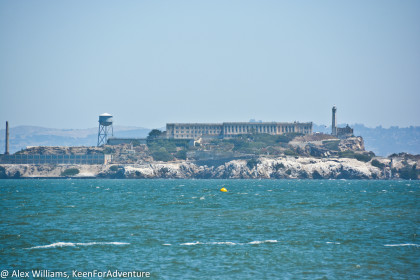 I took this picture of Alcatraz with a 200mm zoom lens from on the beach.