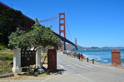 Fort Point actually sits underneath the Golden Gate Bridge, and is a great spot to visit while in the area.