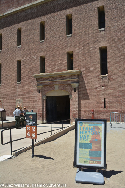 The entrance to Fort Point doesn't look quite as inviting as most museums, because this was an actual military fort.