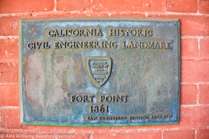 Fort Point is a Civil Engineering Landmark.